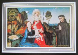 Poštovní známka Rwanda 1982 Umìní, van der Goes Mi# Block 97