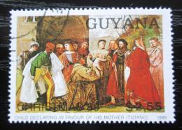 Poštovní známka Guyana 1989 Vánoce, umìní, Rubens Mi# 3075 Kat 4.50€