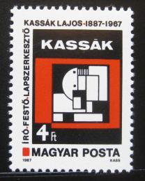 Poštovní známka Maïarsko 1987 Umìní, Lajos Kassák Mi# 3884