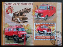 Poštovní známka Togo 2010 Hasièská auta Mi# Block 552 Kat 12€