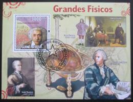 Poštovní známka Guinea-Bissau 2009 Fyzici Mi# Block 725