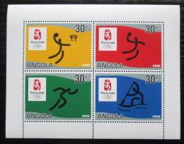 Poštovní známky Angola 2007 LOH Peking Mi# 1787-90 Bogen Kat 10€