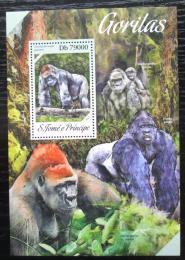 Poštovní známka Svatý Tomáš 2013 Gorily Mi# Block 939 Kat 8€
