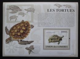 Poštovní známka Komory 2009 Želvy Mi# Block 483 Kat 15€