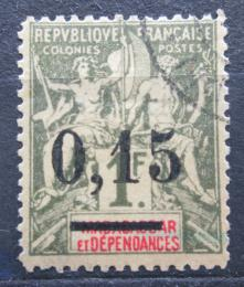 Poštovní známka Madagaskar 1902 Koloniální alegorie pøetisk Mi# 56 I Kat 14€