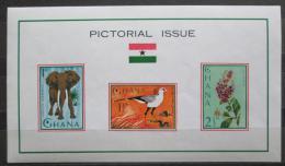 Poštovní známky Ghana 1964 Fauna a flóra Mi# Block 14