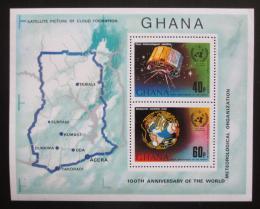 Poštovní známky Ghana 1973 Meteorologie Mi# Block 51 A