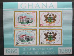 Poštovní známky Ghana 1969 Únorová revoluce, 3. výroèí Mi# Block 36