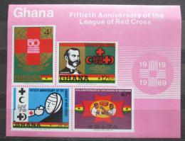 Poštovní známky Ghana 1970 Èervený køíž Mi# Block 38 Kat 7.50€