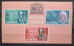 Poštovní známky Ghana 1964 Týden UNESCO Mi# Block 13