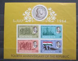 Poštovní známky Ghana 1964 Vznik repubiky, 3. výroèí Mi# Block 10