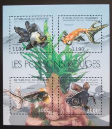 Poštovní známky Burundi 2012 Ryby Mi# 2783-86 Kat 10€