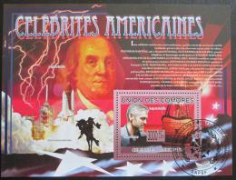 Poštovní známka Komory 2009 Slavní Amerièani Mi# Block 505 Kat 15€