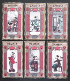 Poštovní známky Zambie 1997 Disney postavièky, Èínský nový rok Mi# 668-73
