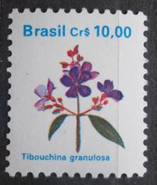 Poštovní známka Brazílie 1990 Tibouchina granulosa Mi# Mi# 2352