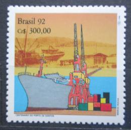 Poštovní známka Brazílie 1992 Pøístav Santos, 100. výroèí Mi# Mi# 2454