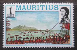 Poštovní známka Mauricius 1978 Vylodìní Anglièanù Mi# Mi# 446 I X A