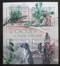 Poštovní známky Burundi 2012 Kaktusy a fauna Mi# Mi# 2748-51 Kat 10€