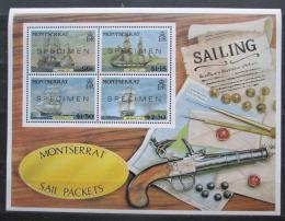 Poštovní známky Montserrat 1986 Poštovní lodì Mi# Block 38 Kat 16€