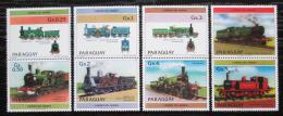 Poštovní známky Paraguay 1984 Lokomotivy s kupónem 3 Mi# 3779-85