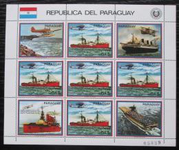 Poštovní známky Paraguay 1983 Letadlové lodì Mi# 3662 Bogen Kat 24€
