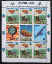 Poštovní známky Paraguay 1984 Historie letectví Mi# 3704 Bogen Kat 25€