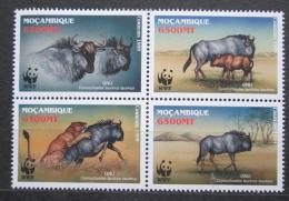 Poštovní známky Mosambik 2000 Pakùò žíhaný, WWF Mi# 1757-60