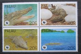 Poštovní známky Palau 1994 Krokodýl moøský, WWF Mi# 690-93