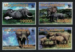 Poštovní známky Mosambik 2002 Slon africký, WWF Mi# 2393-96