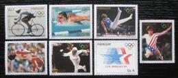 Poštovní známky Paraguay 1985 LOH Los Angeles Mi# 3824-30