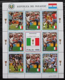 Poštovní známky Paraguay 1989 MS ve fotbale Mi# 4438 Bogen Kat 20€