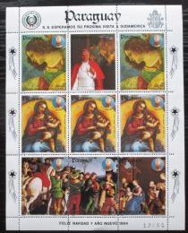 Poštovní známky Paraguay 1984 Vánoce, papež Jan Pavel II. Mi# 3732 Bogen Kat 24€