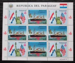 Poštovní známky Paraguay 1986 Loï a Socha svobody Mi# 4009 Bogen Kat 25€