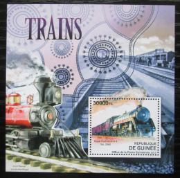 Poštovní známka Guinea 2012 Americké lokomotivy Mi# Block 2111 Kat 12€