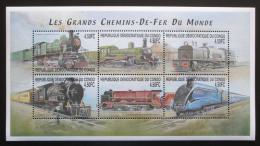 Poštovní známky Kongo Dem. 2001 Lokomotivy Mi# 1539-44 Kat 8€