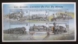 Poštovní známky Kongo Dem. 2001 Lokomotivy Mi# 1545-50 Kat 12€
