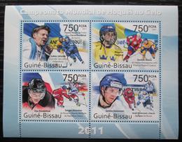 Poštovní známky Guinea-Bissau 2011 MS v ledním hokeji Mi# 5508-11 Kat 12€