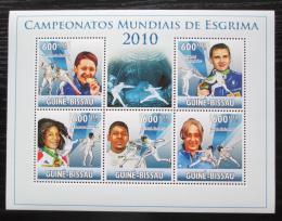 Poštovní známky Guinea-Bissau 2010 MS v šermu Mi# 5134-38 Kat 12€ - zvětšit obrázek