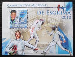 Poštovní známka Guinea-Bissau 2010 MS v šermu Mi# Block 881 Kat 11€
