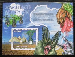 Poštovní známka Svatý Tomáš 2011 Netopýøi Mi# Block 771 Kat 8€