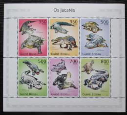 Poštovní známky Guinea-Bissau 2010 Aligátor severoamerický Mi# 5001-06 Kat 13€