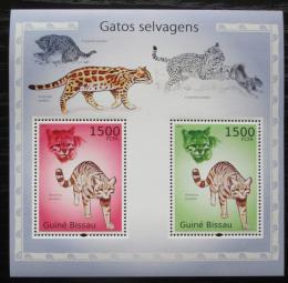 Poštovní známky Guinea-Bissau 2010 Koèkovité šelmy Mi# Block 869 Kat 12€