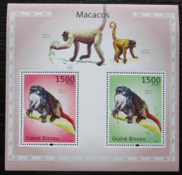 Poštovní známky Guinea-Bissau 2010 Opice Mi# Block 866 Kat 12€