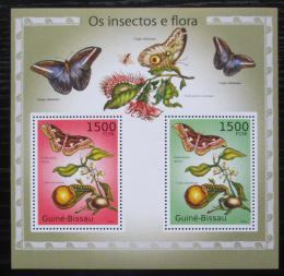 Poštovní známky Guinea-Bissau 2010 Hmyz a flóra Mi# Block 874 Kat 12€