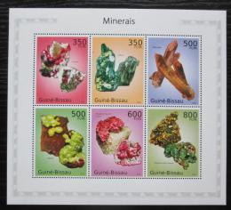 Poštovní známky Guinea-Bissau 2010 Minerály Mi# 4985-90 Kat 12€