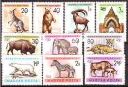 Poštovní známky Maïarsko 1961 ZOO Budapeš� Mi# 1727-36 Kat 10€