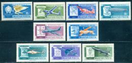 Poštovní známky Maïarsko 1962 Historie letectví Mi# 1846-54
