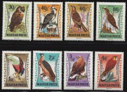 Poštovní známky Maïarsko 1962 Dravci Mi# 1881-88 Kat 8.50€
