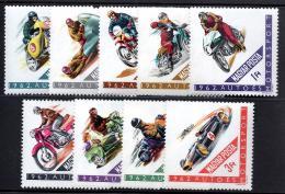 Poštovní známky Maïarsko 1962 Motosport Mi# 1889-97
