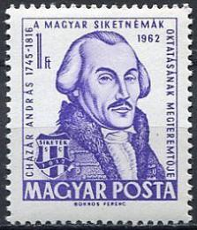 Poštovní známka Maïarsko 1962 András Cházár Mi# 1855